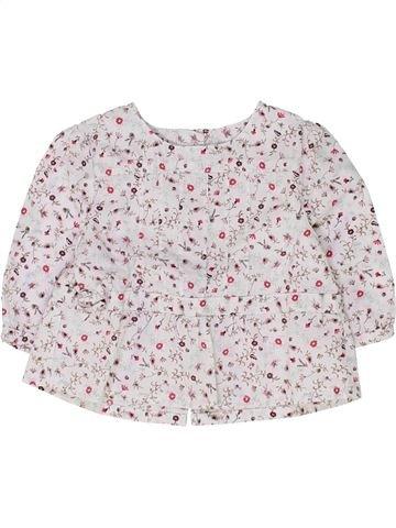 Blusa de manga larga niña VERTBAUDET blanco 3 meses invierno #1449192_1