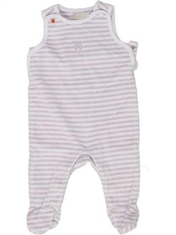 Pyjama 1 pièce garçon NATALYS blanc 3 mois hiver #1449274_1