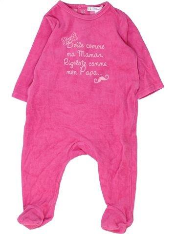 Pijama de 1 pieza niña KIABI rosa 6 meses invierno #1449307_1
