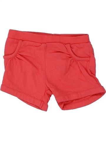 Short - Bermuda fille F&F rouge 6 mois été #1449331_1