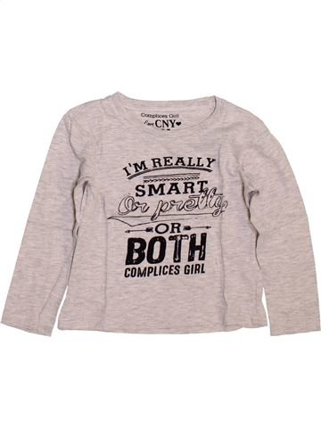T-shirt manches longues fille COMPLICES rose 4 ans hiver #1449369_1