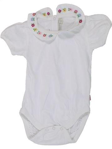 Polo manches courtes fille JOJO MAMAN BÉBÉ blanc 18 mois été #1449375_1
