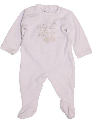 Pyjama 1 pièce unisexe ABSORBA blanc 6 mois hiver #1449383_1