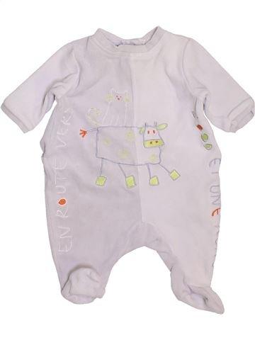 Pyjama 1 pièce garçon MARÈSE blanc 1 mois hiver #1449472_1