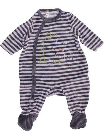 Pijama de 1 pieza niño ORCHESTRA gris 3 meses invierno #1449524_1