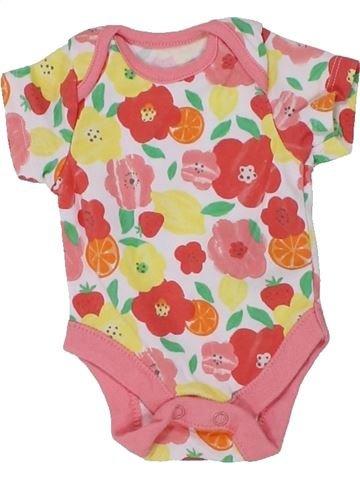 T-shirt manches courtes fille F&F rose naissance été #1449603_1