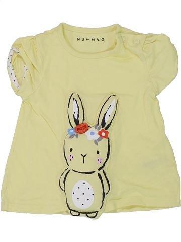 T-shirt manches courtes fille NUTMEG beige 9 mois été #1449831_1