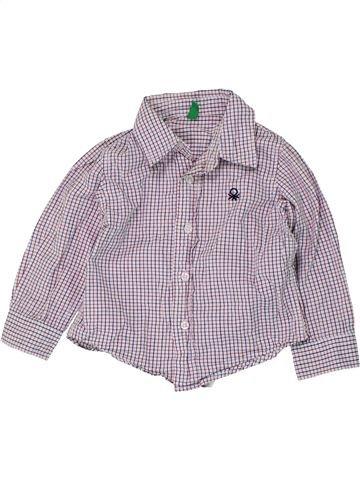 Chemise manches longues garçon BENETTON gris 18 mois hiver #1450631_1