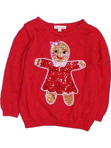 Pull fille BLUEZOO rouge 3 ans hiver #1451071_1