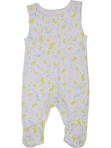 Pyjama 1 pièce garçon SANS MARQUE blanc 3 mois été #1451231_1