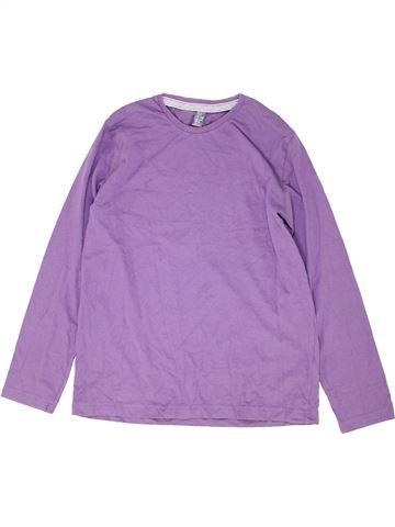 T-shirt manches longues garçon ZARA violet 14 ans hiver #1452025_1