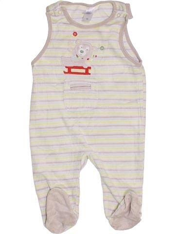 Pyjama 1 pièce garçon C&A blanc 6 mois hiver #1452166_1