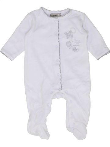Pijama de 1 pieza niña PREMAMAN blanco 3 meses invierno #1452226_1