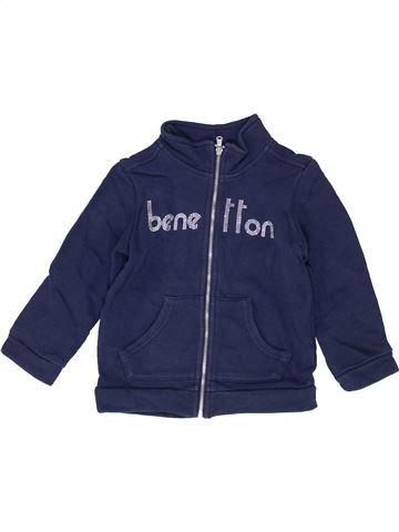 Sweat fille BENETTON bleu 2 ans hiver #1452309_1
