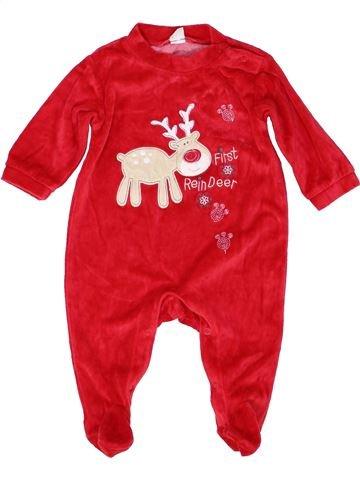 Pyjama 1 pièce garçon SMILE rouge 6 mois hiver #1452596_1