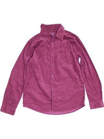 Chemise manches longues garçon CFK rose 12 ans hiver #1452618_1