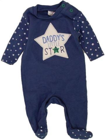 Pyjama 1 pièce garçon F&F bleu naissance été #1453448_1