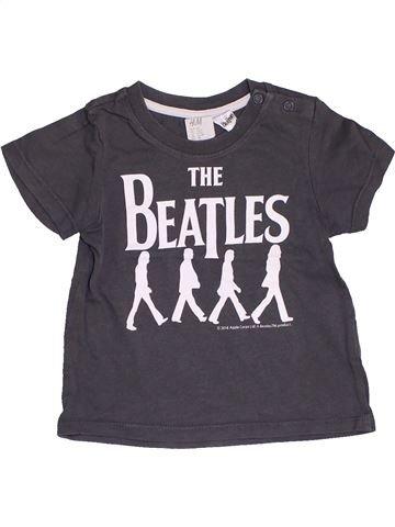 Camiseta de manga corta niño H&M gris 6 meses verano #1453646_1