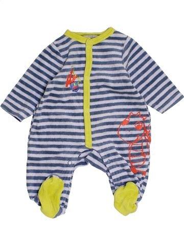 Pyjama 1 pièce garçon PREMAMAN gris 1 mois hiver #1453661_1