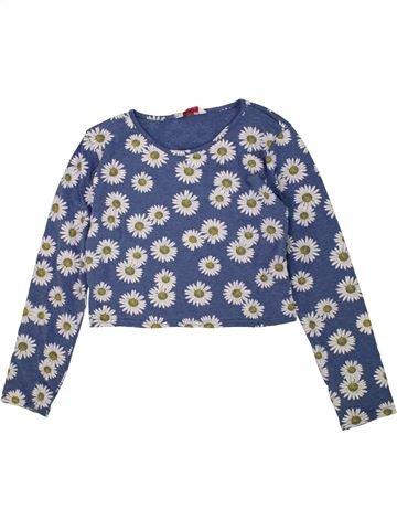 T-shirt manches longues fille KYLIE bleu 13 ans hiver #1453946_1