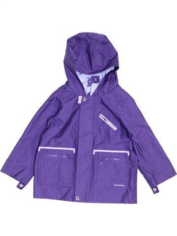 Anorak-Trinchera niña QUECHUA violeta 2 años verano #1454015_1