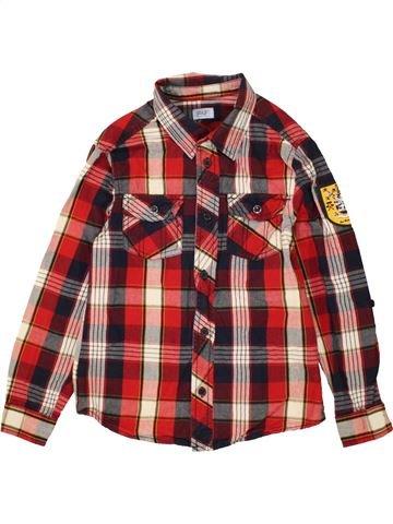 Chemise manches longues garçon F&F marron 8 ans hiver #1454171_1