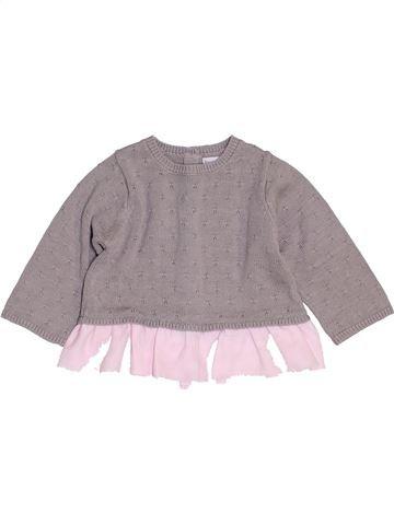 Pull fille BRIOCHE gris 6 mois hiver #1454286_1