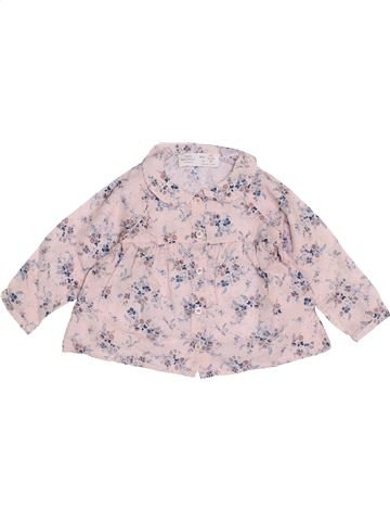 Blusa de manga larga niña ZARA rosa 6 meses invierno #1454314_1