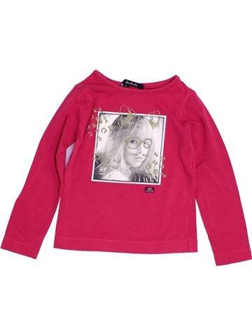 T-shirt manches longues fille LILI GAUFRETTE rose 4 ans hiver #1454397_1