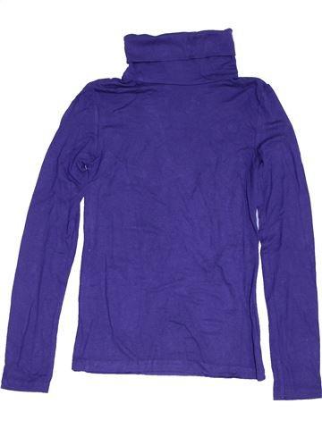 Camiseta de cuello alto niña KIABI violeta 10 años invierno #1454657_1