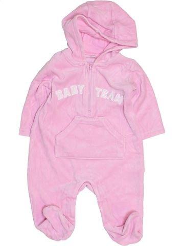 Pijama de 1 pieza niña SANS MARQUE rosa 6 meses invierno #1455177_1