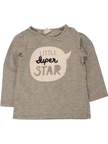 Camiseta de manga larga niño H&M beige 12 meses invierno #1456167_1