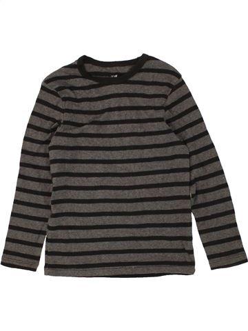 Camiseta de manga larga niño H&M gris 6 años invierno #1456889_1