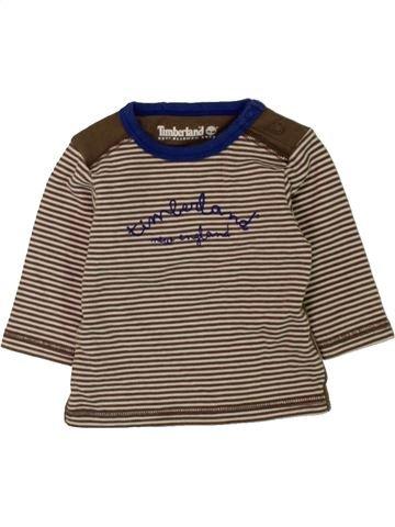T-shirt manches longues garçon TIMBERLAND marron 1 mois hiver #1457207_1