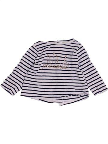 Camiseta de manga larga niña TAPE À L'OEIL blanco 9 meses invierno #1457368_1
