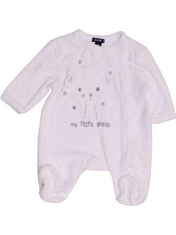 Pijama de 1 pieza unisex KIABI blanco 0 meses invierno #1457447_1