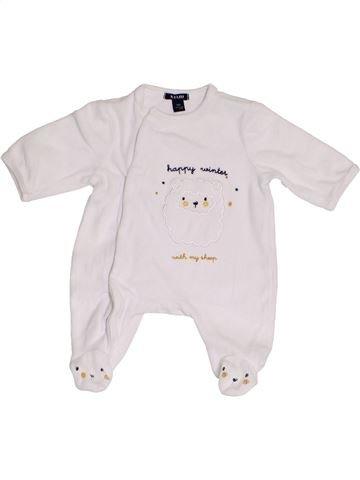 Pijama de 1 pieza unisex KIABI blanco 0 meses invierno #1457471_1