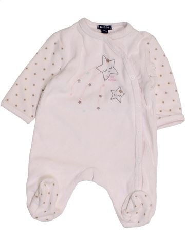 Pijama de 1 pieza niña KIABI blanco 1 mes invierno #1457476_1