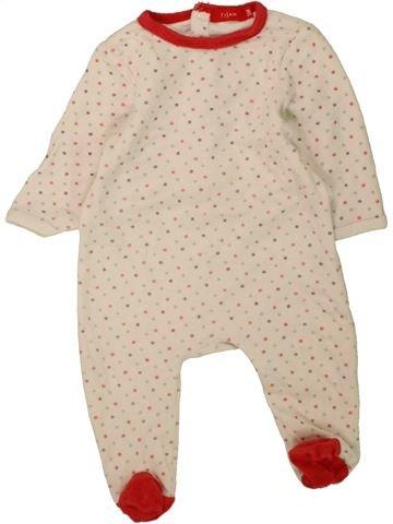 Pyjama 1 pièce fille TISSAIA blanc 3 mois hiver #1457907_1