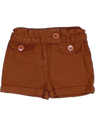 Short-Bermudas niña 3 SUISSES marrón 6 meses invierno #1457924_1