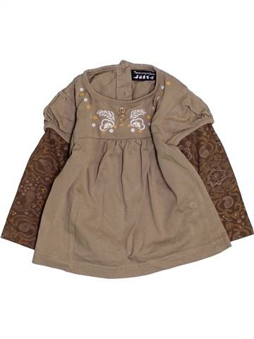 Camiseta de manga larga niña TOUT COMPTE FAIT marrón 6 meses invierno #1457941_1