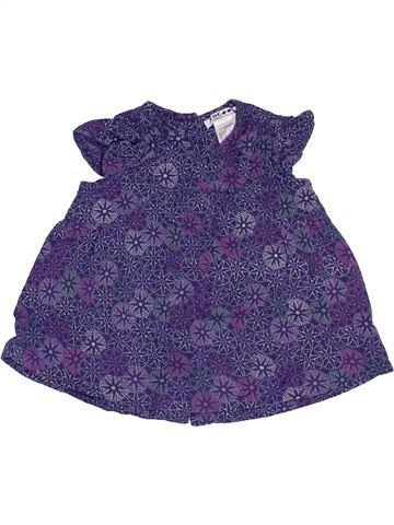 Blouse manches courtes fille LA REDOUTE CRÉATION violet 6 mois été #1457945_1