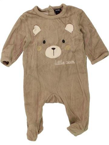 Pijama de 1 pieza niño KIABI beige 3 meses invierno #1458282_1