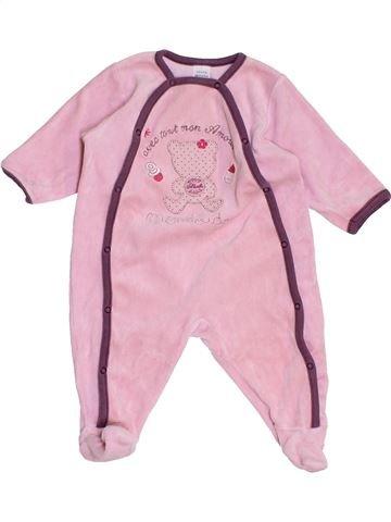 Pijama de 1 pieza niña ABSORBA rosa 6 meses invierno #1458325_1