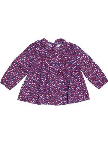 Blusa de manga larga niña BOUT'CHOU violeta 18 meses invierno #1458355_1