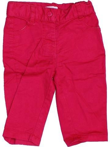 Pantalón niña VERTBAUDET rojo 6 meses verano #1458405_1