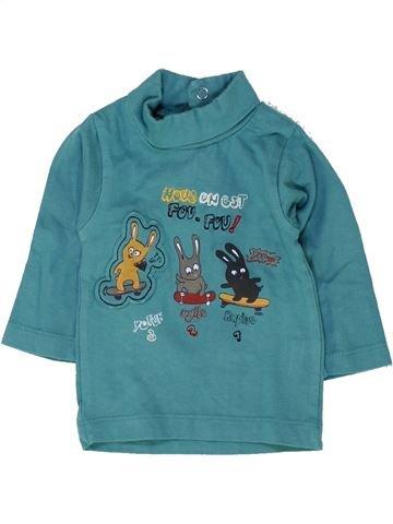 T-shirt col roulé garçon TOUT COMPTE FAIT bleu 3 mois hiver #1458623_1