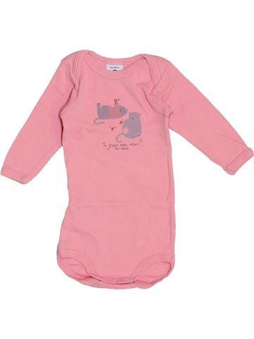 Camiseta de manga larga niña PETIT BATEAU rosa 3 meses invierno #1459168_1