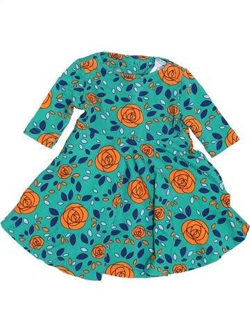 Vestido niña POLARN O PYRET verde 6 meses verano #1459830_1