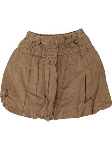 Falda niña OKAIDI marrón 8 años invierno #1459898_1